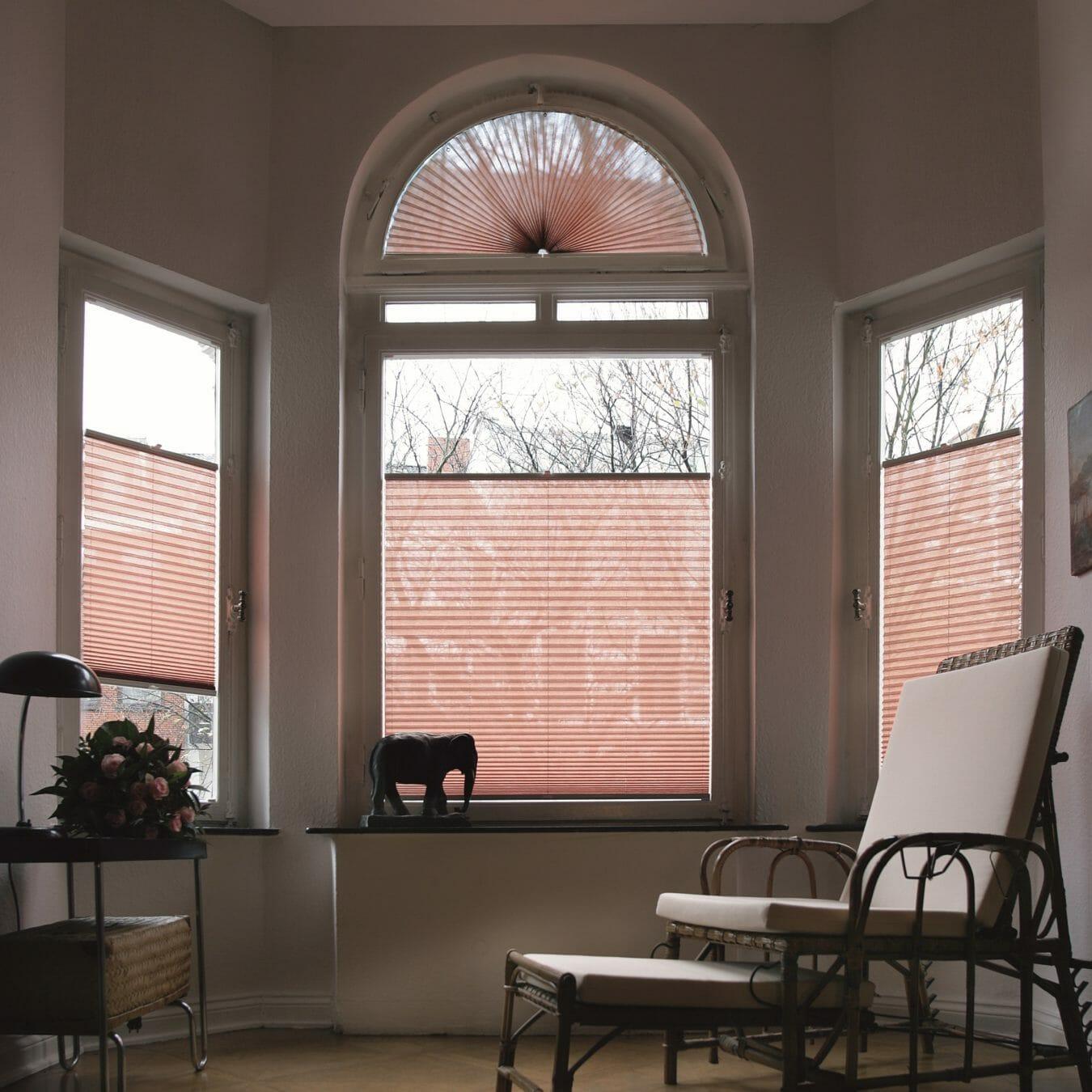 Plisségordijn bijzondere raamvorm