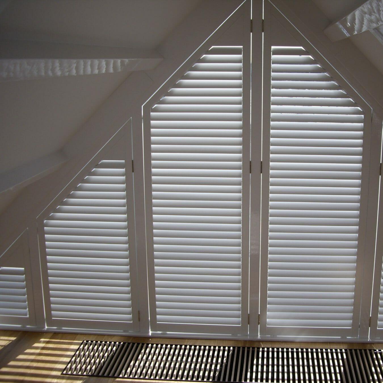 Zonnelux shutters trapezium raam - bijzondere raamvorm