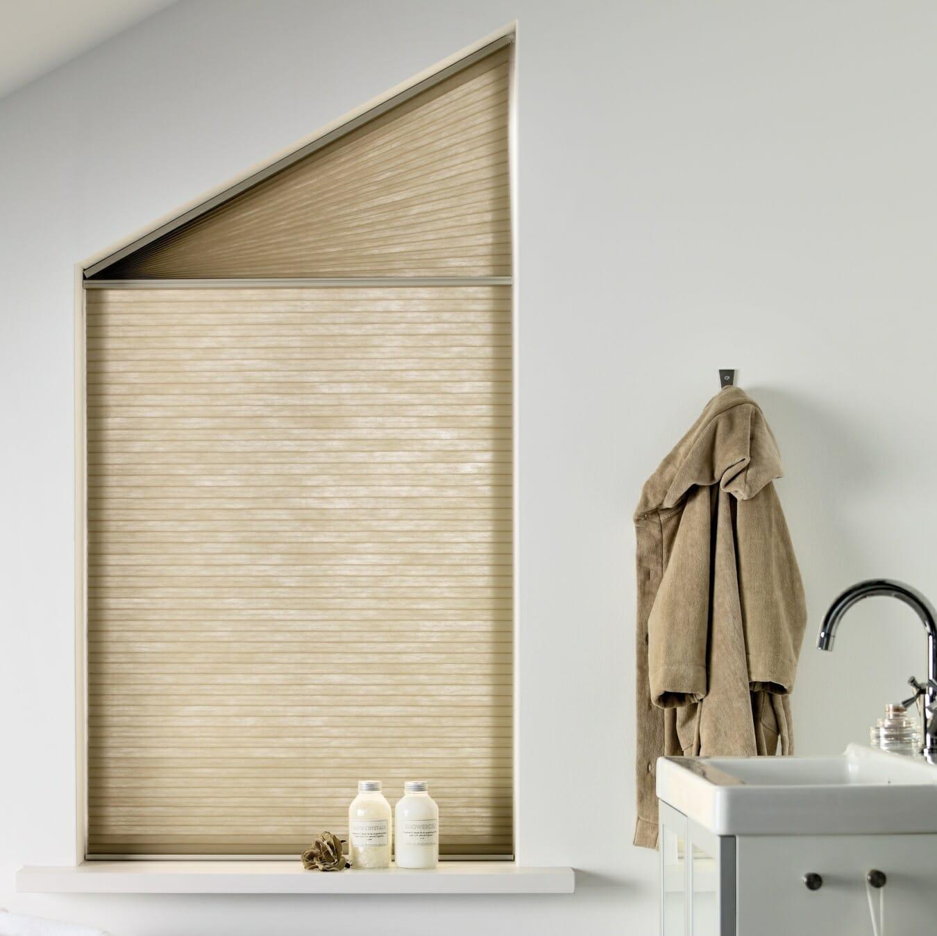 Duette® gordijnen bij bijzondere raamvorm
