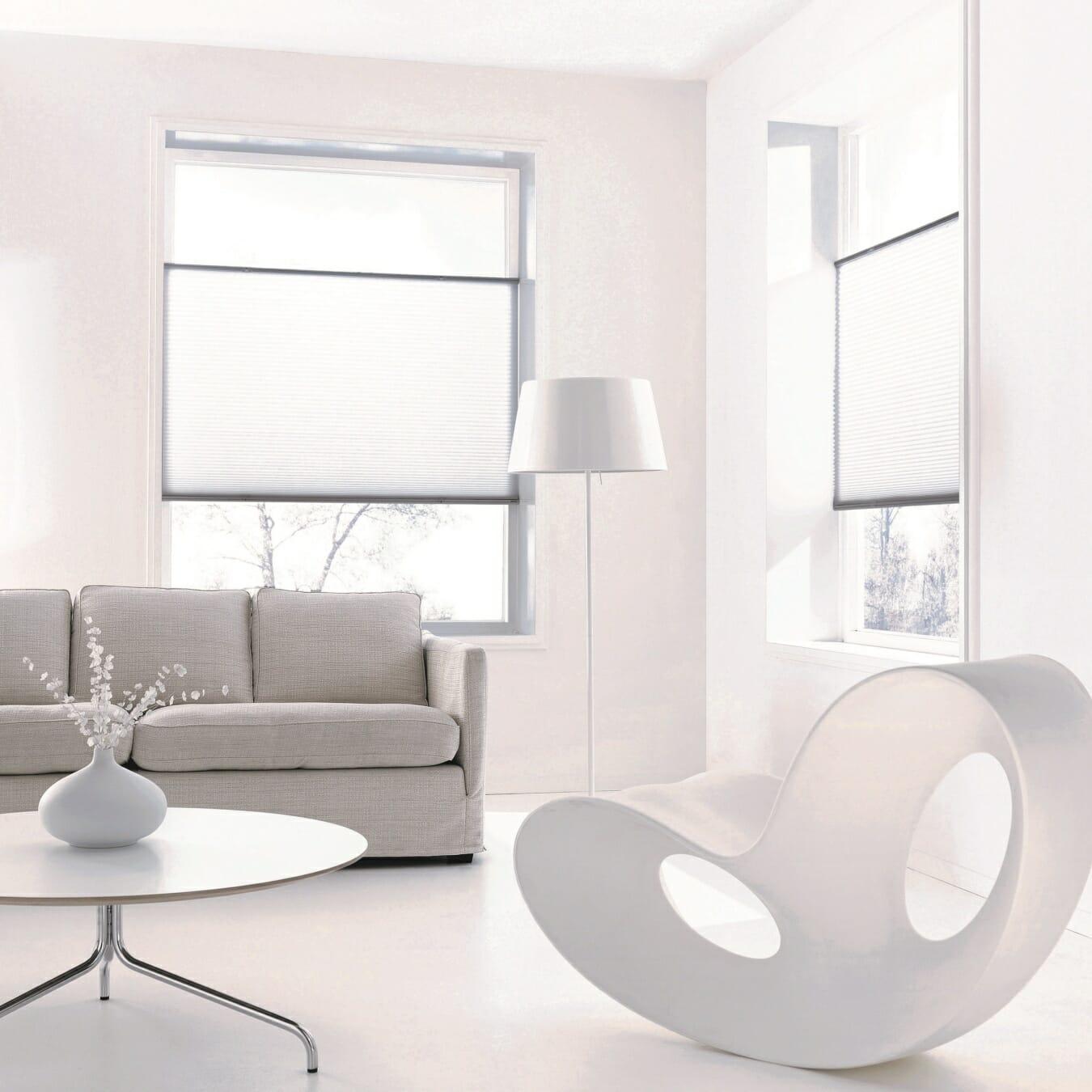 Duette® gordijnen in woonkamer
