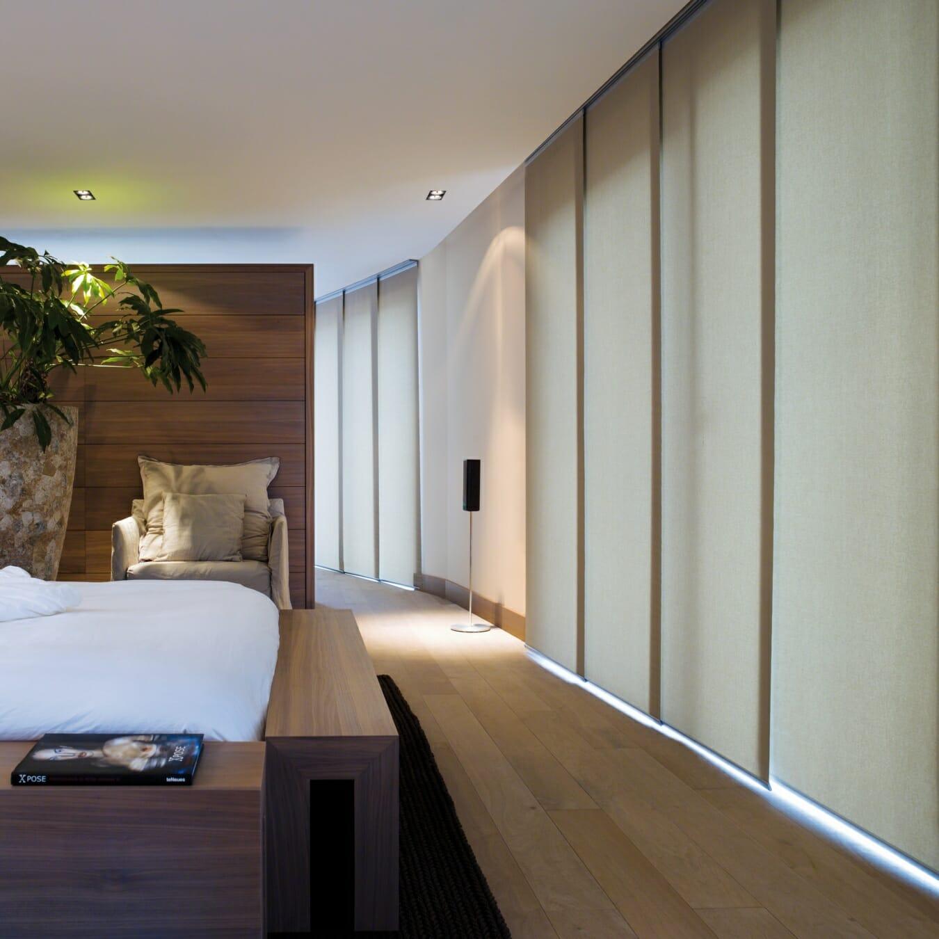 Paneelgordijnen slaapkamer
